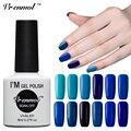 Vrenmol Gel UV LED Nail Polish Semi Permanente Colores Puros Serie azul de Uñas de Gel Empapa Del Esmalte de Uñas de Gel UV laca