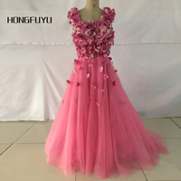 2015 Long Ball Gown Pink Prom Dresses Saudi Arabia Square Neckline Sleeveless Vestidos De Noiva Court