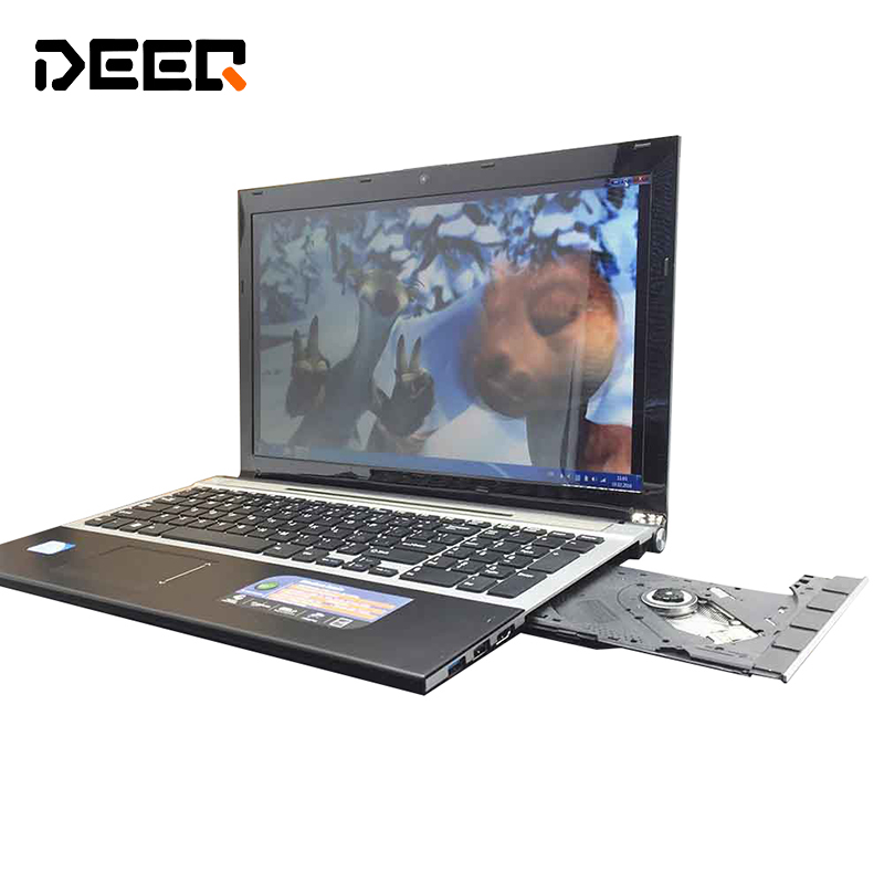15.6 Inch Fast Surfing Windows7/8 Notebook Computer 8GB+128GB SSD In-tel I7 1.9Ghz Quad Core WIFI Webcam DVD,4gb Laptop