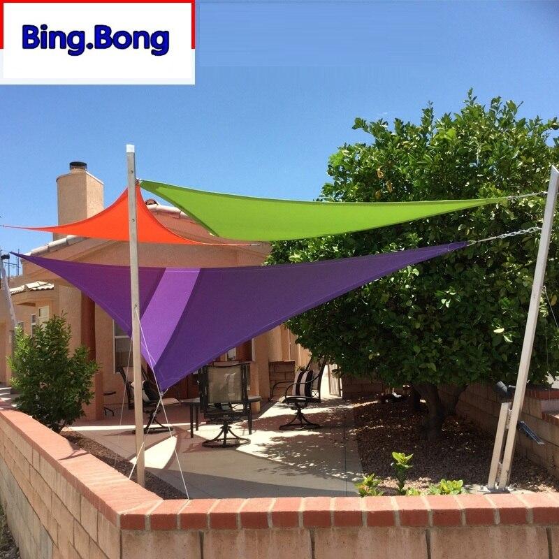 Custom Sun Shade Sail UV PU Waterproof Cloth Square Triangles Outdoor <font><b>Shading</b></font> Courtyard Balcony Carport Awnings Custom Any Size
