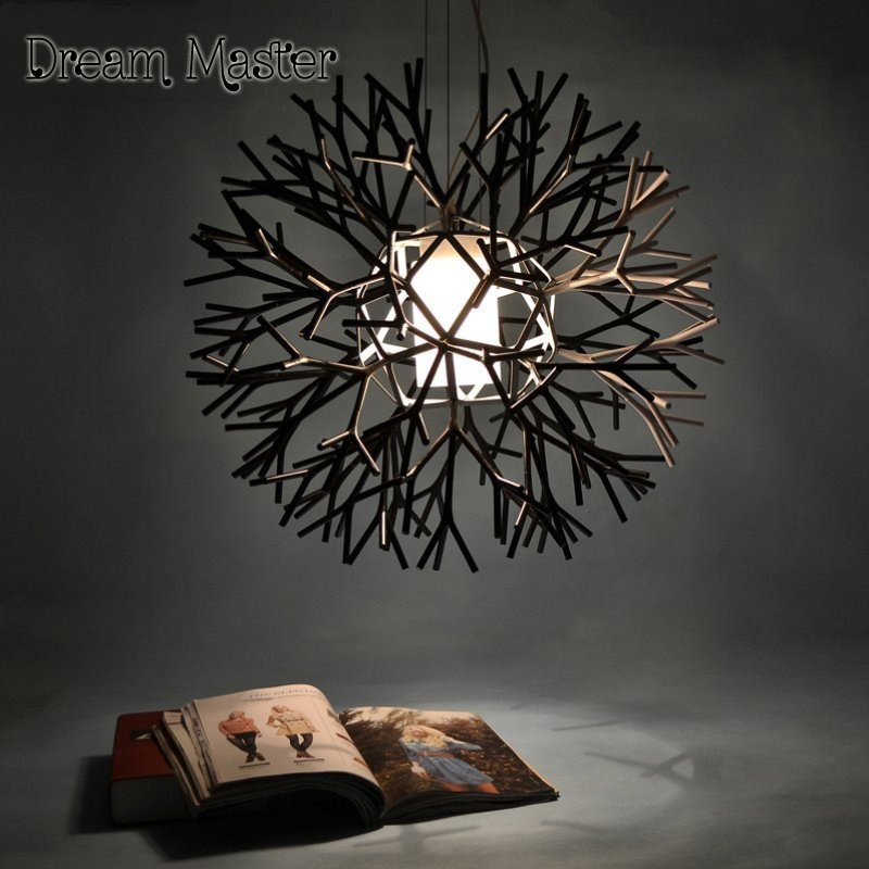 Nordic creative personality chandeliers post modern minimalist art living room bedroom Chandelier Tree shape lamp  Postage free