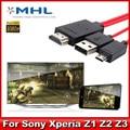 1080 p mhl micro usb para adaptador hdmi hdtv av cable para para sony xperia z3 z2 z1 1 pcs frete grátis