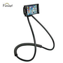 Fimilef Lazy Neck Phone Holder Stand for iPhone Universal Cell Phone Desk Mount Bracket for Samsung Xiaomi Flexible Phone Holder mbr cell power neck