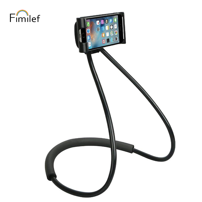 Fimilef Lazy Neck Phone Holder Stand for iPhone Universal Cell Phone Desk Mount Bracket for Samsung Xiaomi Flexible Phone Holder