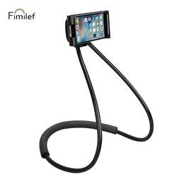 Fimilef preguiçoso pescoço suporte do telefone suporte para o iphone universal telefone celular suporte de montagem de mesa para samsung xiaomi suporte de telefone flexível