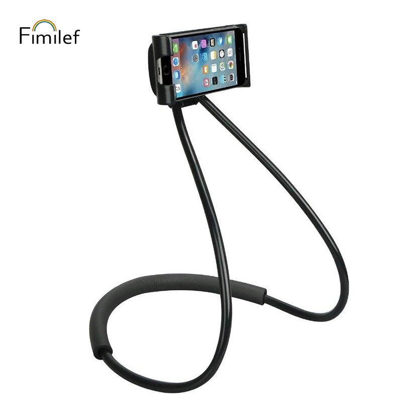 Fimilf Faul Hals Telefon Halter Stehen für iPhone Universal Handy Schreibtisch Halterung für Samsung Xiaomi Flexible Telefon Halter