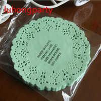 50 pcs 5.5 ''diâmetro 14 cm Laço Do Vintage Rodada papel decoupage almofadas Doilies placemats mads para decoração de mesa acessório