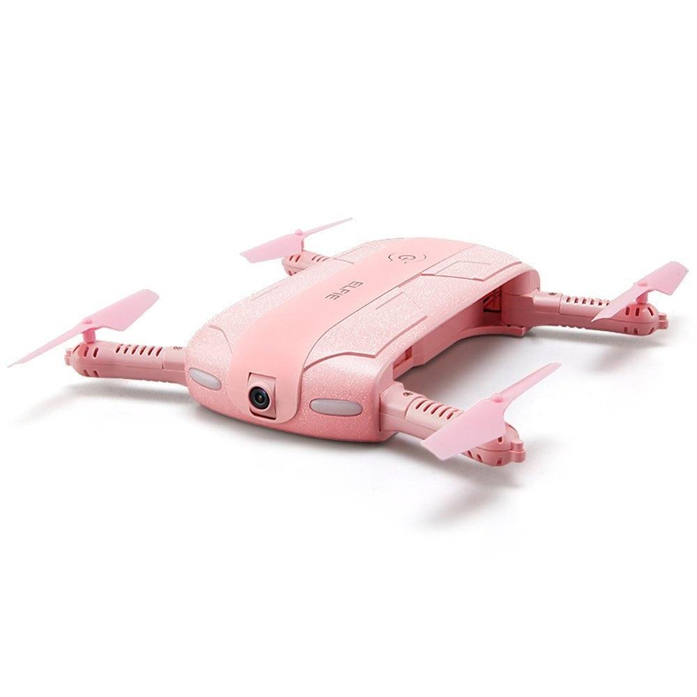 JJRC H37 ELFIE Tasche Selfie Drohne Wifi Steuer Faltbare FPV Höhe Halten Modus Tragbare 2.0MP Cam RTF RC Hubschrauber Rosa f20311