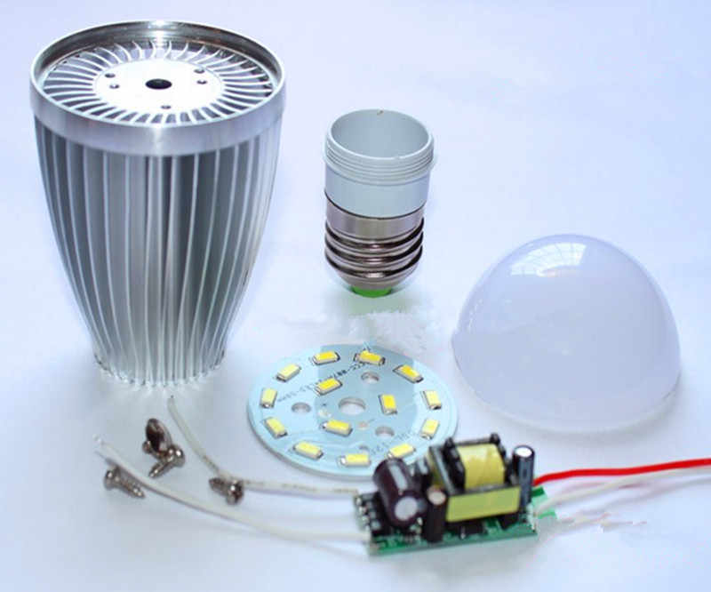 aluminum bulbs E27 E14 3w 5w 7w  9w 12w led bulb shell kit + driver +5730SMD PCB heatsink LED parts for bulb lamps improved