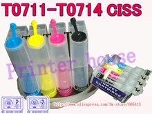 CISS pour EPSON Stylus DX4000, DX4050, DX4400, DX4450, DX5000, DX5050, DX6000, DX6050, DX7000F, DX7400 T0711 T0712 T0713 T0714 CISS