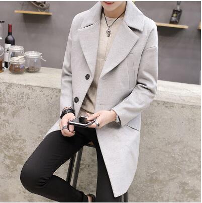 Ordentlich M ~ 3xl! Neue 2019 Männer Kleidung Der Winter Paare Kleid In Die Lange Wolle Mantel Woll Mantel Mantel Der Jungen Korean Flut