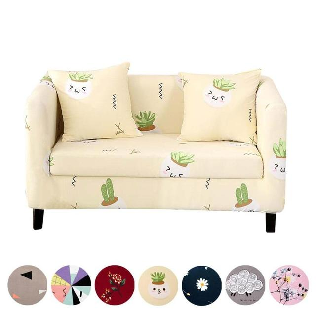 2017 Stretch Four Seasons Printing Sofa Cloth Sets Full Cover Fabric Cushion Combination Renew