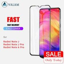 VALAM Protector de pantalla de vidrio templado para Xiaomi Redmi Note 7 Pro, Note 8 Pro, 8T, Full covre, Redmi 7, 8, 7A, Note 7 Pro