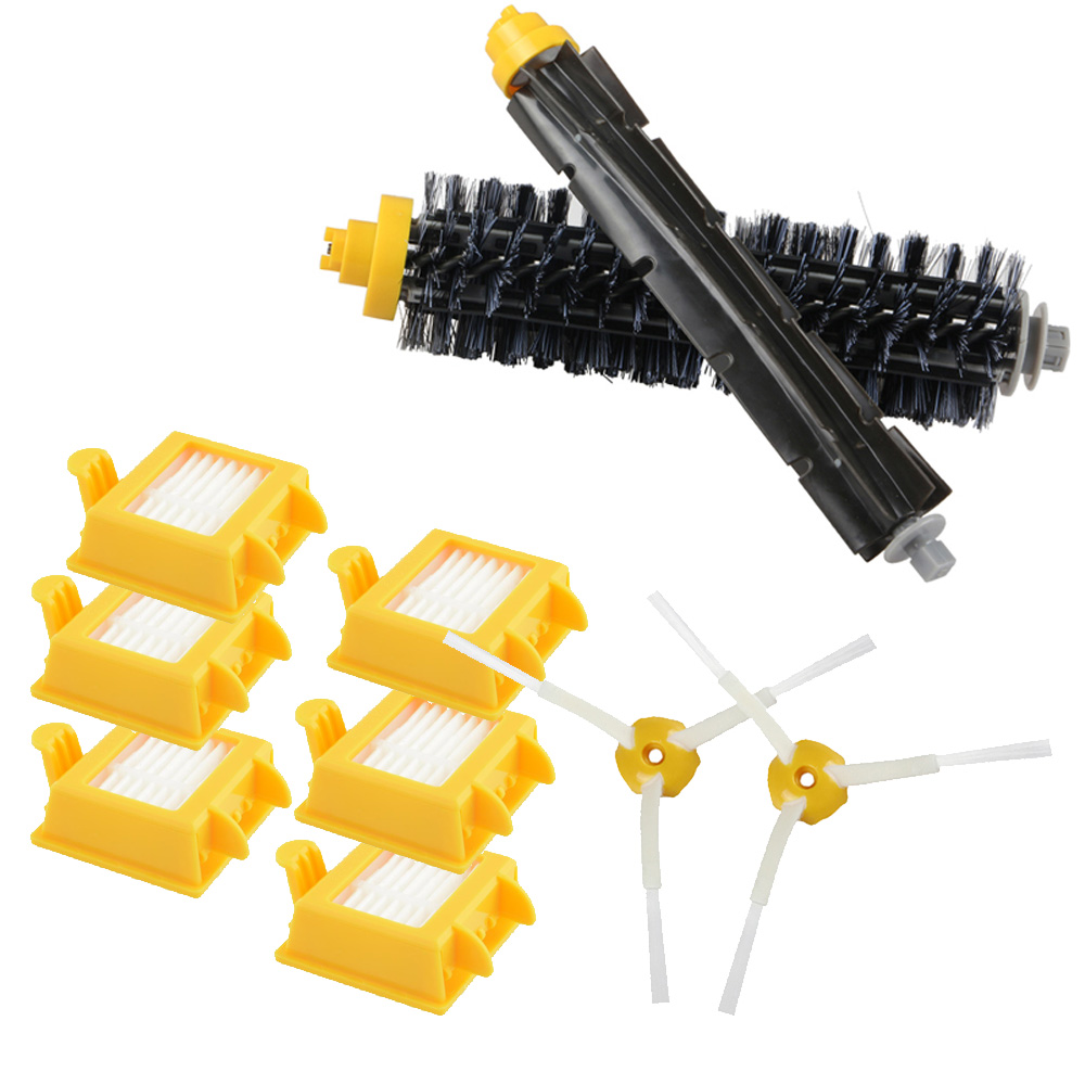 6 HEPA Filter +2 Side Brush +1 Set Bristle Brush For IRobot Roomba 700 Replacement Parts 760 770 780