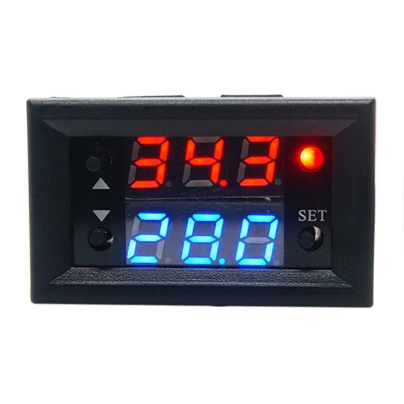 W2810 Single Way DC12V 20A Digital Dual Display Temperature Control Module Relay NTC Sensor Thermostat Temperature Control
