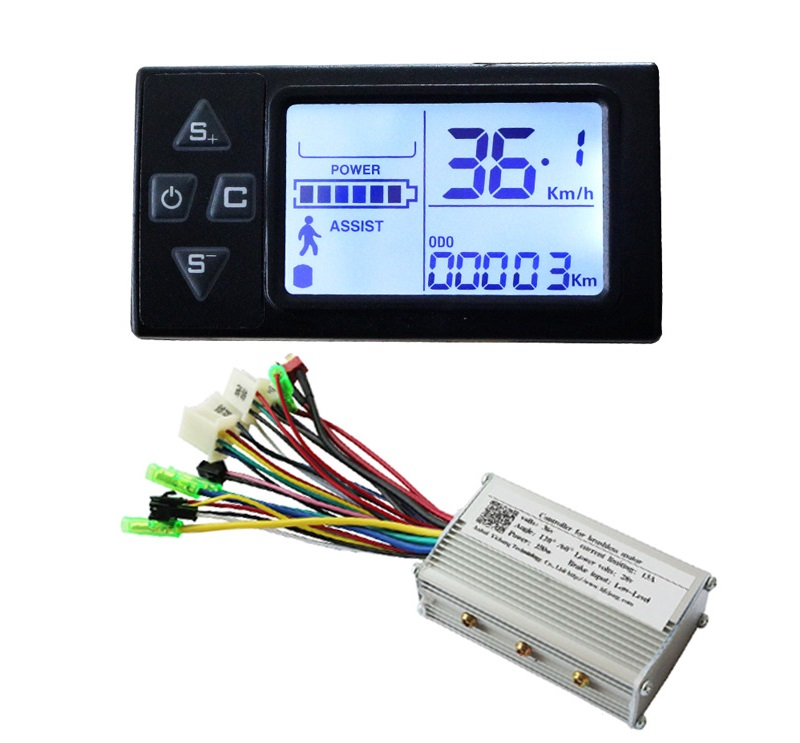 Free Shipping 250W 36V DC brushless motor control panel Liquid crystal display LCD controller E-bike electric bicycle speed fast shipping 1000w 60v dc 24 mofset brushless motor controller e bike electric bicycle speed control