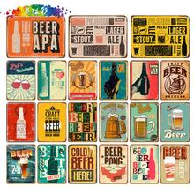 Moura color Ice Cold Free Beer Here Painting Art Poster Antique Metal Tin Signs Bar Pub Club Home Decorative Retro Wall Sticker