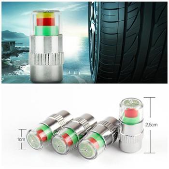 Adeeing 4 Pcs 2.4 Bar Car Tire Pressure Monitoring Valve Cap Sensor Indicator 3 Color Eye Alert monitoring tire pressure r20