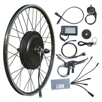 Vtuvia 26'' inch Wheel Electric bike conversion kit Water proof 48V 1000W Rear Hub brushless Motor E bike kit with LCD display