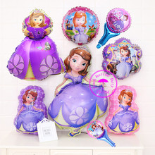 personalized inflatable foil balloons party gifts for kids birthdays helium mylar balloon princess sofia birthday