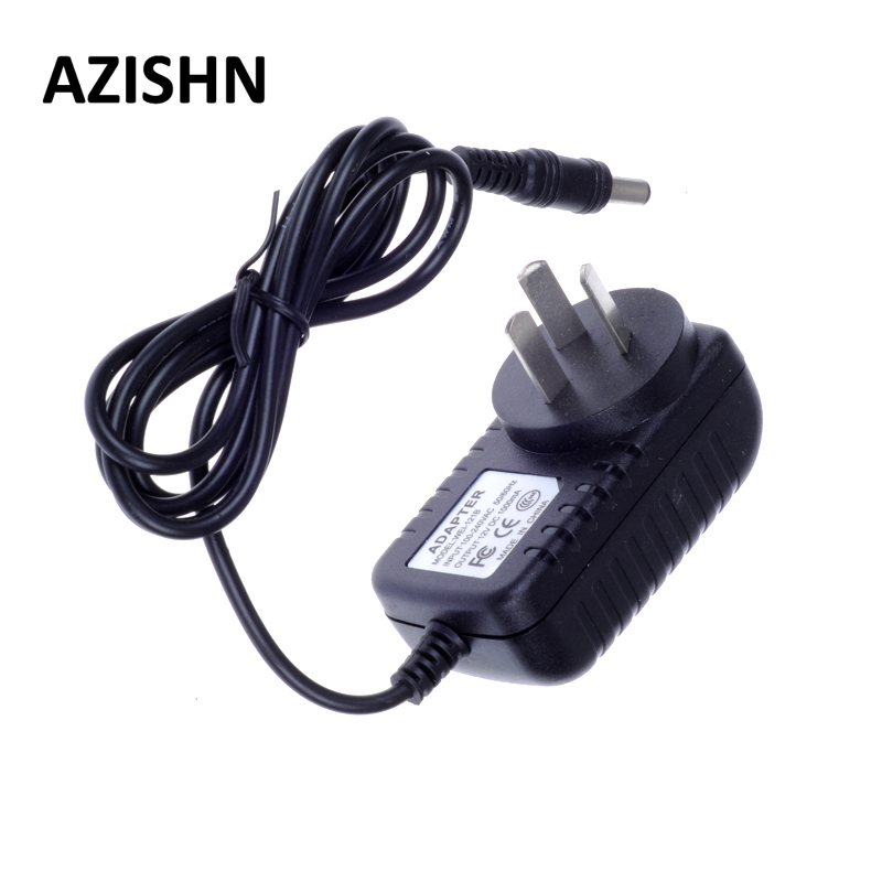 AZISHN AC 100-240V DC 12V 1A AU Plug AC/DC Power adapter charger Power Adapter for security CCTV Camera (2.1mm * 5.5mm) camera battery charger cradle for sony fe1 ac 100 240v 2 flat pin plug