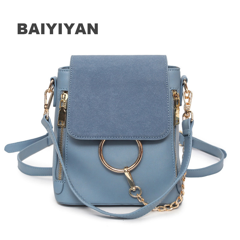 New Women CrossBody Bag Nubuck PU Leather Ladies Shoulder Bag Handbag Retro Messenger Bags Casual Packsack Double Zipper