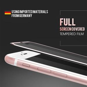 Image 4 - 3Dアルミ合金強化ガラスのためのiphone 6 6s 7 8プラスフルカバーエッジiphone × 10 5 5s、seガラスフィルム