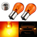 2pcs PY21W 1156 BA15S 581 Amber Color Glass Car Auto Stop Light Car Brake Bulb Indicator Lamp Turn Signal Light 21W DC12V