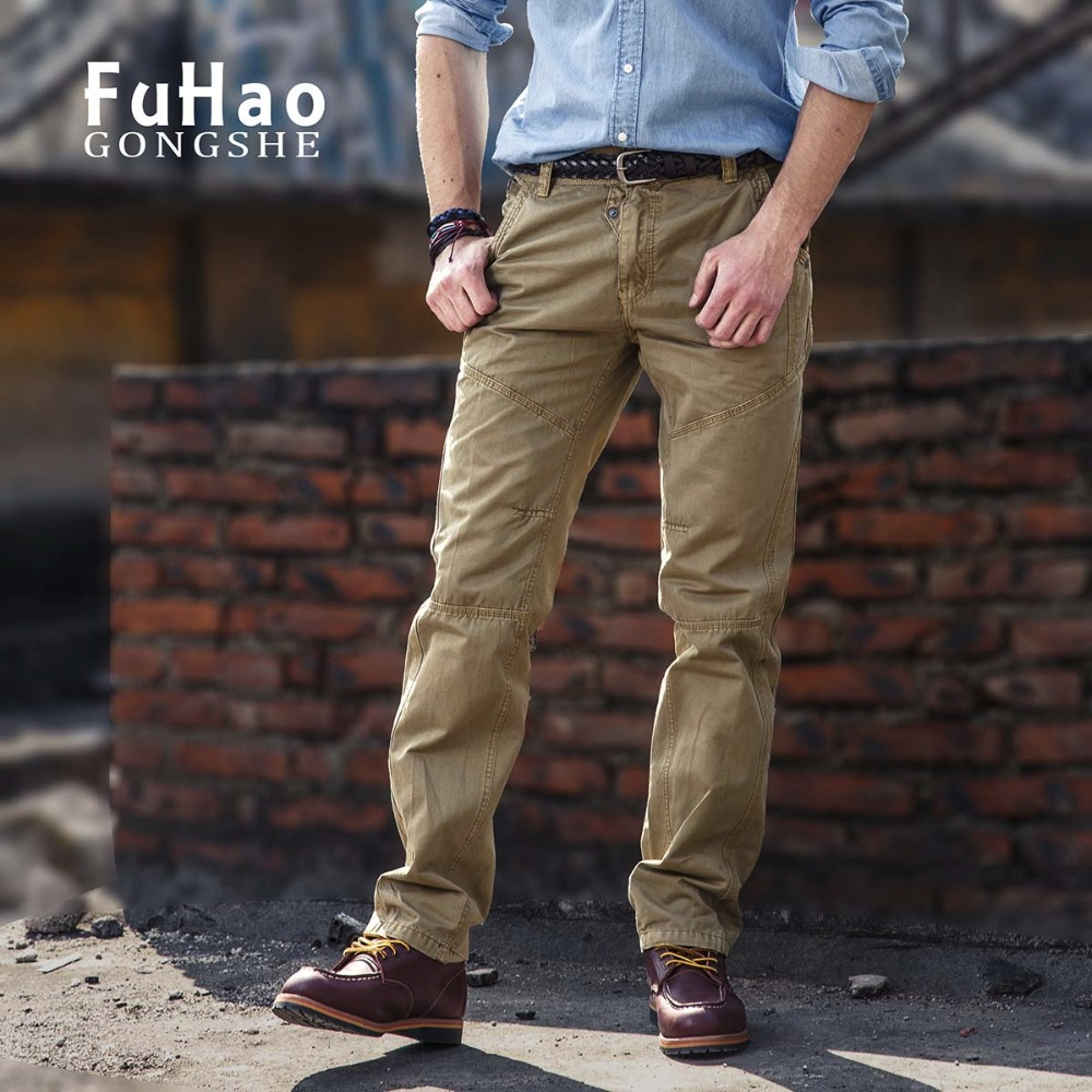 Slim Fit Workout Cargo Pants Army Green Men Pants Male Casual Straight Long Trousers Men With