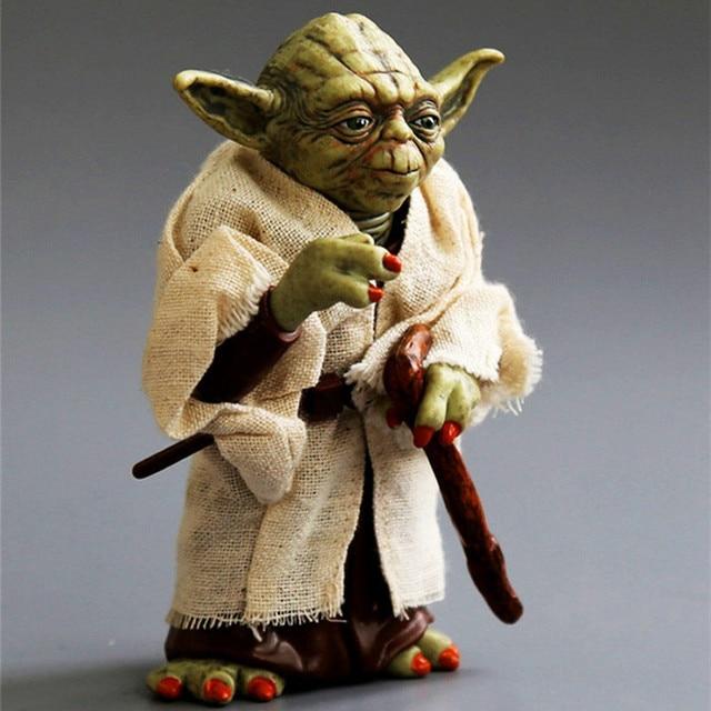 Star Wars Yoda Darth Vader Action Figure Doll Toys The Force Awakens Jedi Master Yoda Anime Figures Lightsaber 1