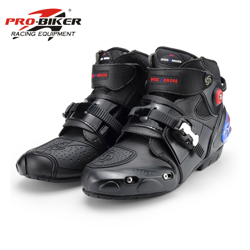 Motorcycle Boots PRO BIKER High Ankle Racing boots BIKERS leather race Motocross Motorbike Riding boots Shoes