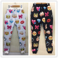 2015 New 3D Print boys Emoji Joggers Casual Mens joggers Spo Sweatpants Cartoon Jogger Pants Trousers S-XL free shipping