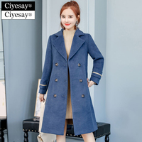 Ciyesay manteau femme hiver abrigos mujer invierno 2018 Plus Size Long Winter Wool Coat Women casaco feminino mantel damen