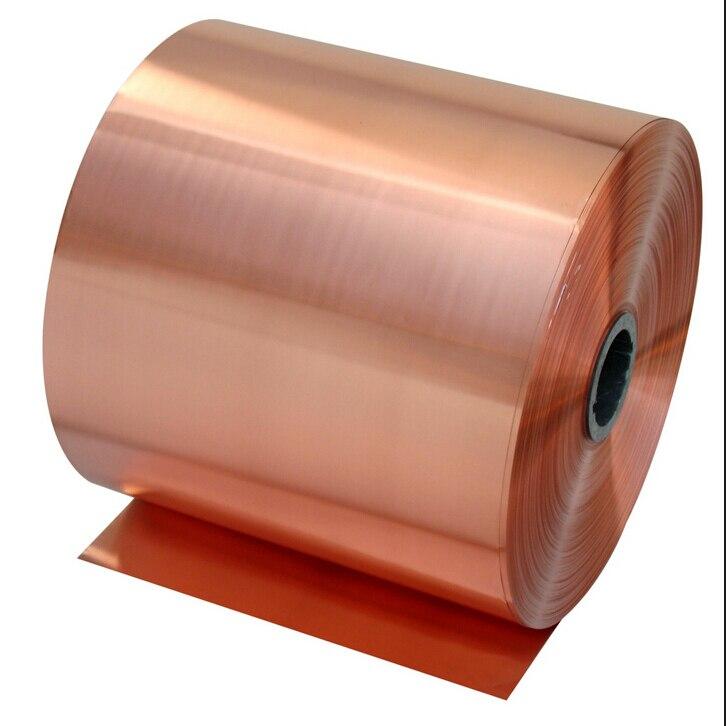 0.02x100mm 1 mètre 99.90% T2 Rouge feuille De Cuivre, ruban De Cuivre, Cuivre Matériel Bande De DIY Livraison gratuite