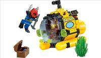 City Series Treasure Hunt Tiny Submarine Building Blocks Classic Kids Toys Compatible Legoe