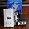 Vinculación de la Válvula Solenoide Válvula de cierre de Emergencia de Alarma de Fugas de Gas detector de Fugas de Gas Detector De Alarma De Gas
