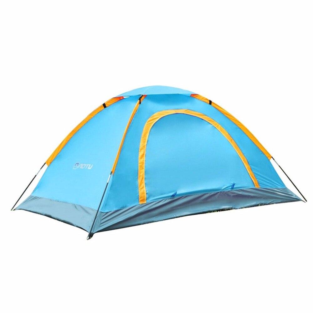 Camping En Plein Air 1-2 Personne Durable Étanche Camping tente en aluminium qualité supérieure Tente 210D tissu oxford Backer