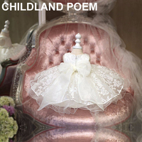 girls dresses summer 2016 lace girls wedding dress white 1 year girl baby birthday dress Girl Princess Vestido Dresses