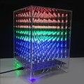 LEORY акриловый чехол для DIY 3D Light Cube Kit 8x8x8 512LED MP3 музыкальный спектр DIY Электронные Наборы Дисплей электронное производство