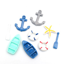 LF 50Pcs Mixed Resin Anchor Decoration Crafts Flatback Cabochon Embellishments For Scrapbooking Kawaii Cute Diy Accessories