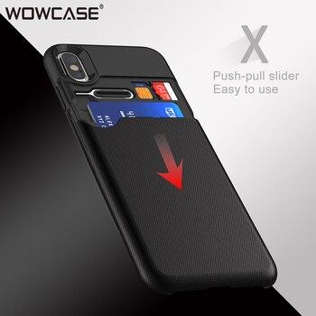 สำหรับ iPhone X Case, WOWCASE กระเป๋าสตางค์ช่องใส่บัตร