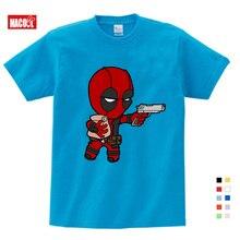 Boys Spiderman Ironman Captain America T Shirt Summer Short Sleeve Superhero Tee Kids Cotton blue shirt Size Free Shipping