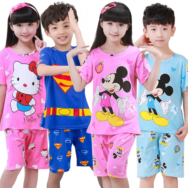 a7705b3f5 Aliexpress.com   Buy New Summer Children Princess Pajamas Stripe ...