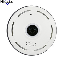 Hiseeu Mini CCTV Camera HD 1.3 Megapixels 360 Degree Endoscope Full View Security Camera Panoramic IR Baby Monitor Dropshipping