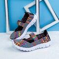 2017 spring autumn women flat sandals Shoes women's Woven Flat Shoes flip flops seasons multi colors sandals female casual shoes