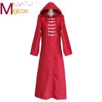 Anime Tokyo Ghoul Bronze Tree Organization Kirishima Toka Uniform Cosplay Party Costume Cloak Red Hooed Cape Overcoat
