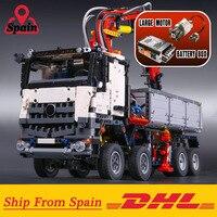 Испания DHL 20005 Technic серии Arocs модель грузовика строительные блоки кирпичи классические совместимые LegoINGlys 42043 подарки для детей игрушки