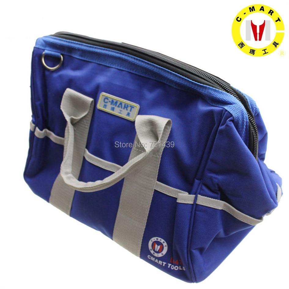 C MART Tools Oxford Clotth Multifunction Tool Bag Large Capacity Thicken Professional Repair Tools Bag 14 Messenger Toolkit Bag