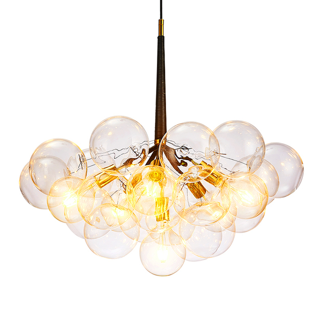 Modern Glass Pendant Light Nordic Style Hanging For Dining Room Kitchen Designer Clear Bubble