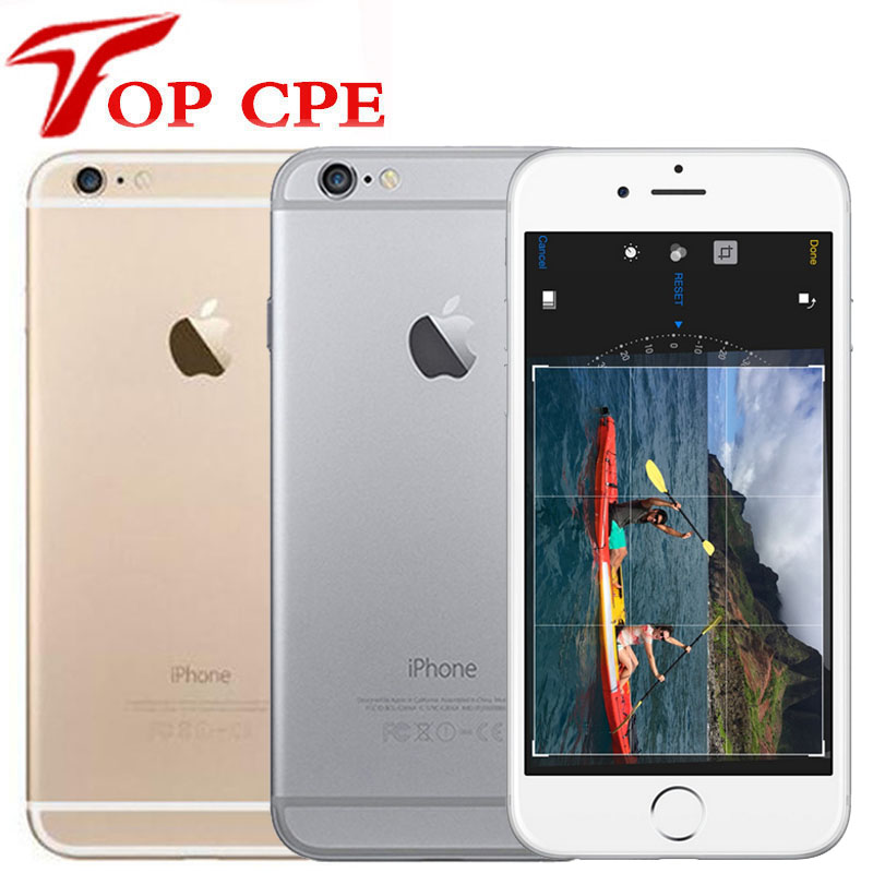 "Original Apple iPhone 6 6P Plus Dual Core IOS Mobile Phone 4.7/5.5""' IPS 1GB RAM 16/64/128GB ROM 4G LTE Unlocked Used Cell Phone(China)"